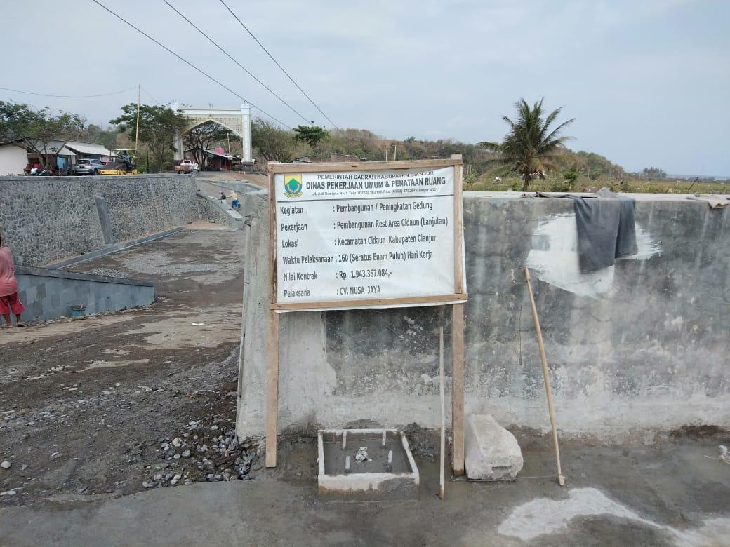 Pembangunan Rest Area Cidaun